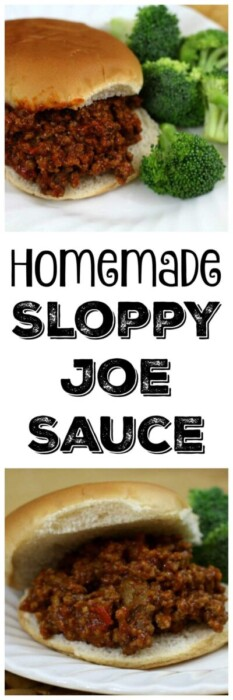 Our yummy homemade sloppy joe sauce