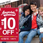 $10 Off $40 or more at Aeropostale