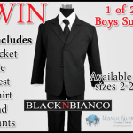 Mission Giveaway Black N Bianco Win Boys Suits