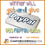 Mission Giveaway Campus Book Rentals Win $100 Paypal