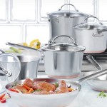 KitchenAid Gourmet Distinctions 10-Piece Stainless-Steel Cookware Set 61% Off