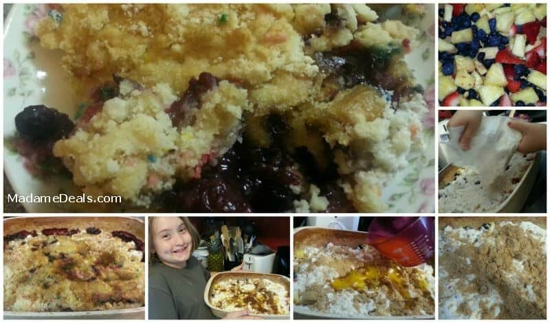 Kids Dessert Recipes :Blueberry Pineapple Crumble Cake