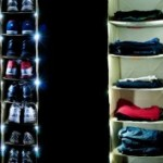 Lighted Closet Hanging Organizer Shelf 58% Off