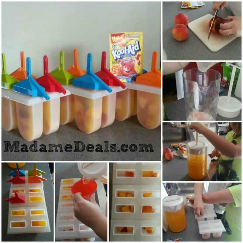 Kids Easy Recipes – Peach Mango Pops