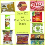 Save 25% on Back To School Snacks