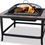 Blue Rhino Slate Tile Wood-Burning Fire Pit Only $99.99!