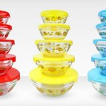 Set of 5 Glass Mixing Bowls with Lids Only $8.99!