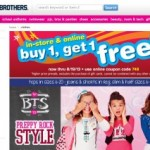 Justice and Brothers Buy 1 Get 1 Free Sitewide