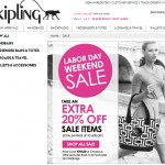 Kipling Labor Day Sale Savings of Up to 60% Off