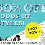 Save 50% on 1000s of Styles at ModCloth
