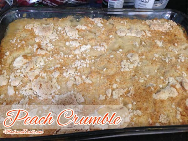 Kids Dessert Recipes: Quick and Easy Peach Crumble