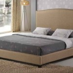 Modern Linen or Fabric Platform Bed Up to 46% Off