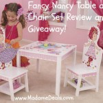 Fancy Nancy Table and Chair Set review and giveaway!