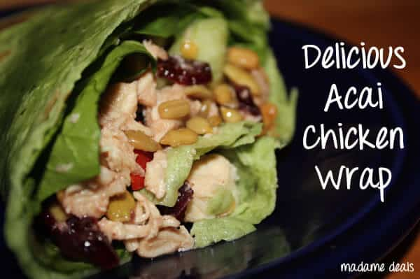 low calorie acai chicken wrap
