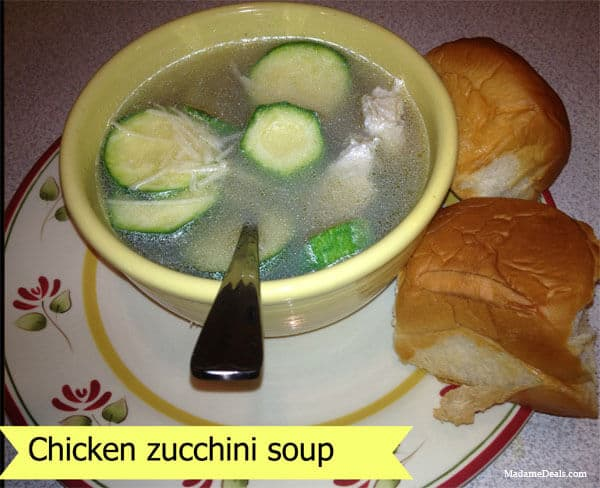 Zucchini Soup with Chicken