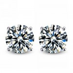 2 Carat Cubic Zirconia Earrings for under $6.00