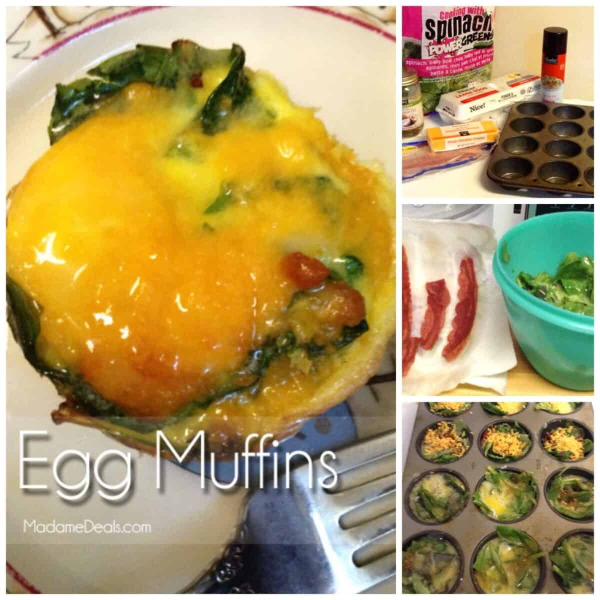 egg muffins recipe collage