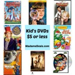 Kids DVDs $5 and under