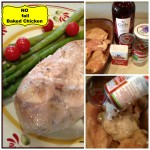 no bake chicken collage