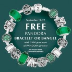 FREE Pandora Bracelet or Bangle with Purchase