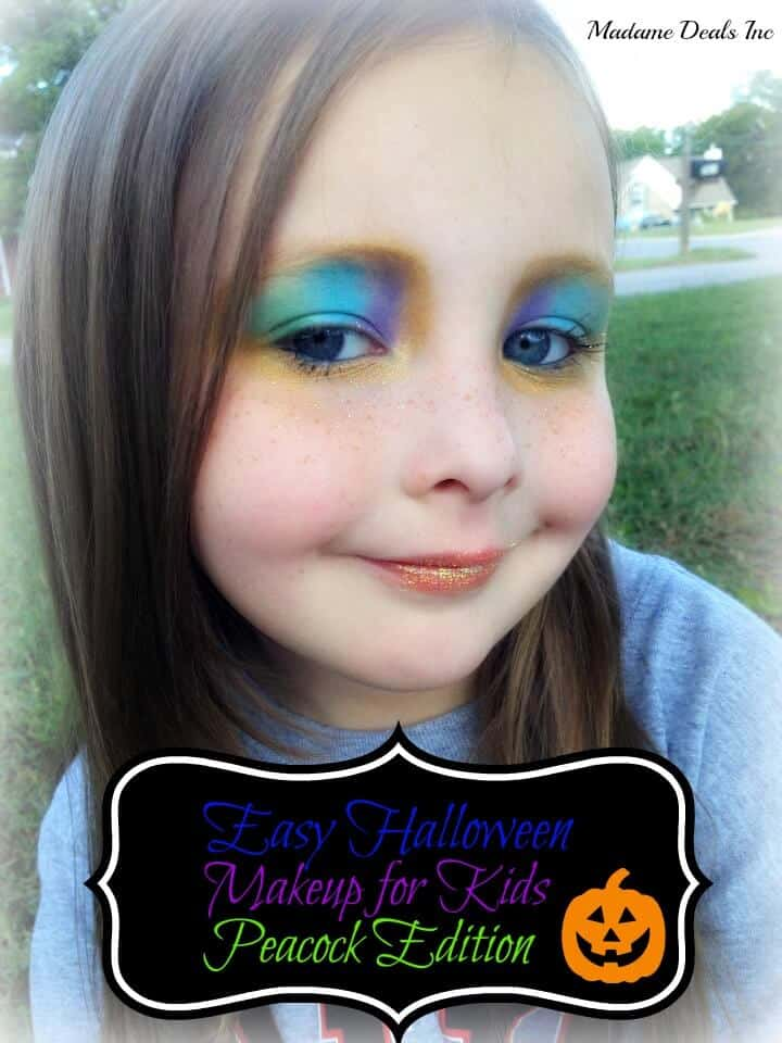 Easy Halloween Makeup for Kids: Peacock Edition - Real - Simple Halloween Makeup For Kids