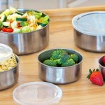 5-Piece Stainless Steel Bowl Set with Plastic Lids Only $9.99!