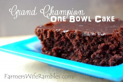 Grand Champion Chocolate Cake