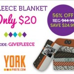 Photo Fleece Blanket only $20!