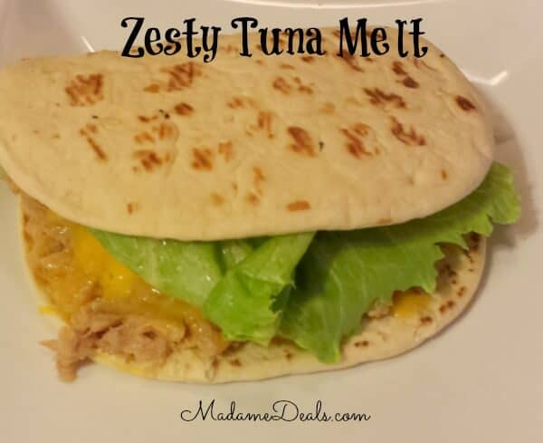 Low Calorie Zesty Tuna Melt
