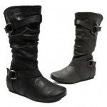 Carrini Faux-Leather Riding Boots $25.99 Shipped!