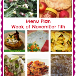 Week of November 11th Menu Plan