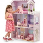 Teamson Fancy Mansion Wooden Dollhouse with Furniture 68% Off Today Only