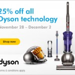 Dyson Black Friday Sale and Cyber Monday Sale 2013