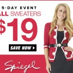 Spiegel Sweater Sale Only $19!