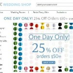 The Knot Wedding Shop Coupon Code 25% Off Today Only