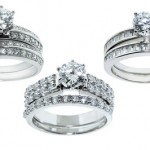 2-Piece Sterling Silver and Cubic Zirconia Wedding-Ring Sets $19.99 Shipped!