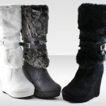 Unsensored Faux-Fur Boot with Wedge $24.99 Shipped!