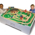 Melissa & Doug Multi-Activity Table & Wooden Train Set Bundle 39% Off