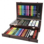 ART 101 Budding Artist 93-Piece Set with Wooden Case Only $22.99!