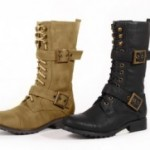 Carrini Women's Vegan Leather Lace-Up Combat Boots Only $29.99 Shipped!