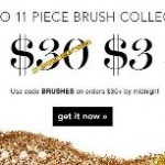 ELF Cosmetics 11 pc Brush Set for just $3 with Purchase