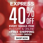 EXPRESS Cyber Monday Sale 2013