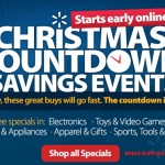 Walmart Christmas Countdown Savings Event