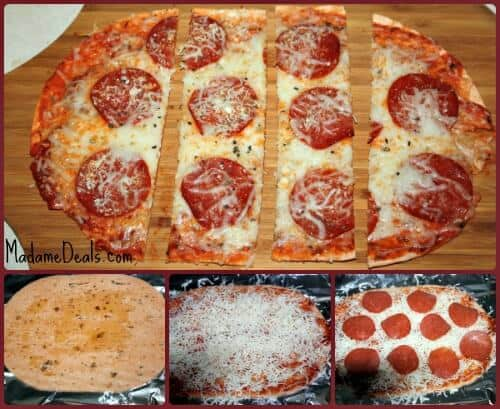 Low Calorie Pizza Steps