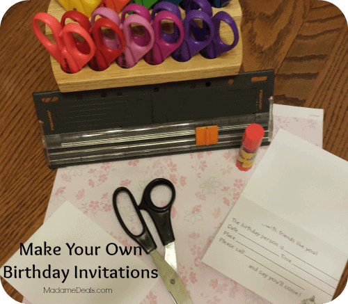 Make Your Own Birthday Invitations 1