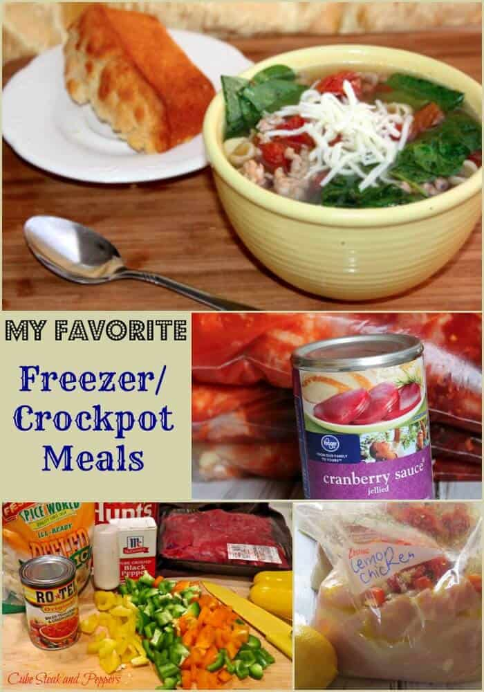 Now, these make-ahead Crock-Pot freezer meals make a set-and-forget dinner even better! My Crock-Pot is a lifesaver when it comes to making dinner easy. Now, these make-ahead Crock-Pot freezer meals make a set-and-forget dinner even better!