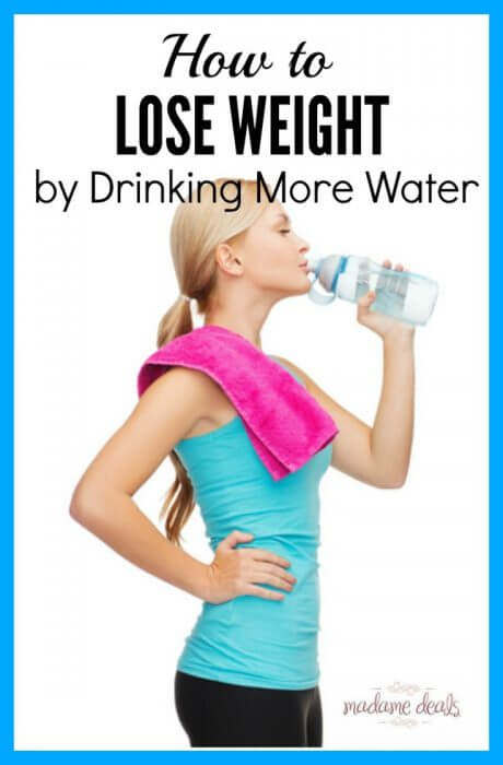 Tips on how to lose weight by drinking more water.