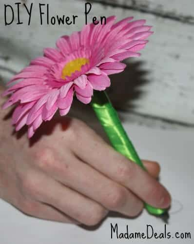 DIY Flower Pen