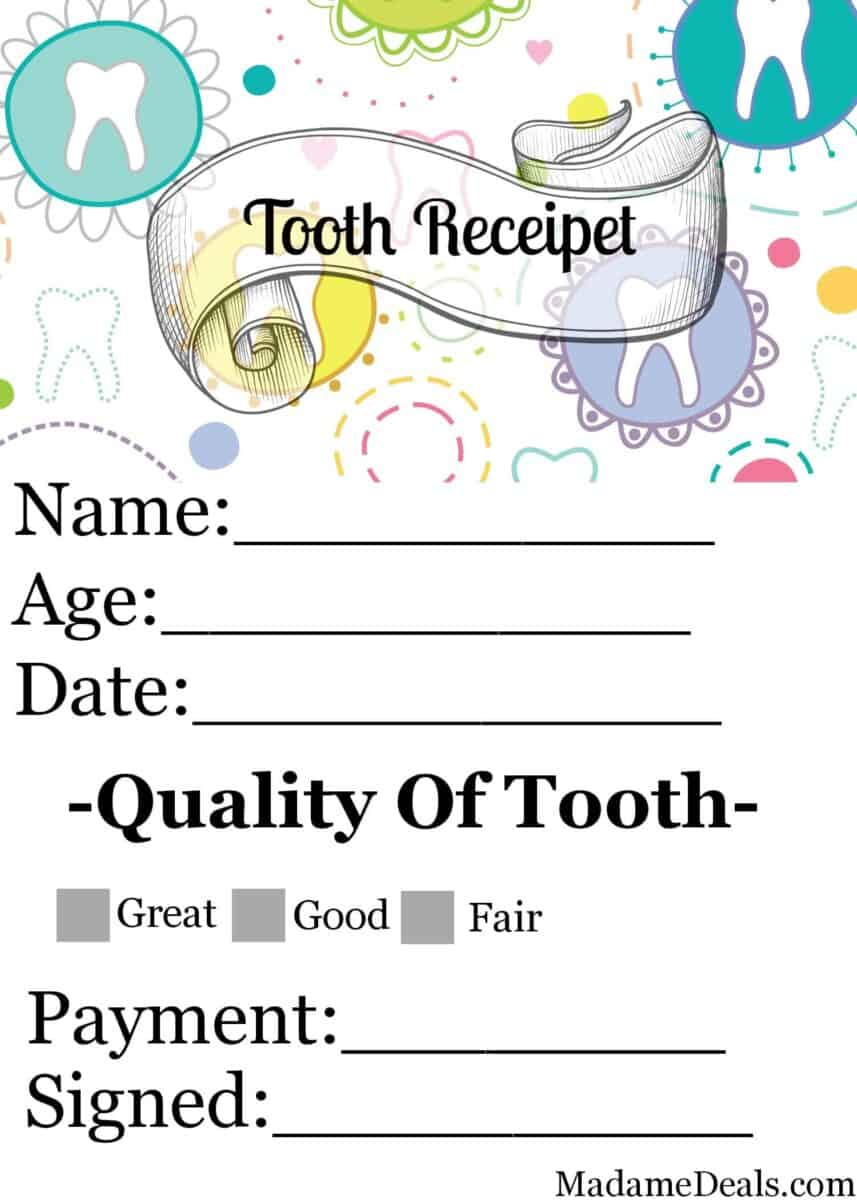 Printable tooth fairy coupons mens t shirts deals designing a tooth fairy letter template printable tooth fairy receipts and note cards are available online xflitez Choice Image