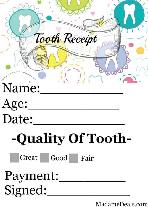 Tooth Fairy Printable 2